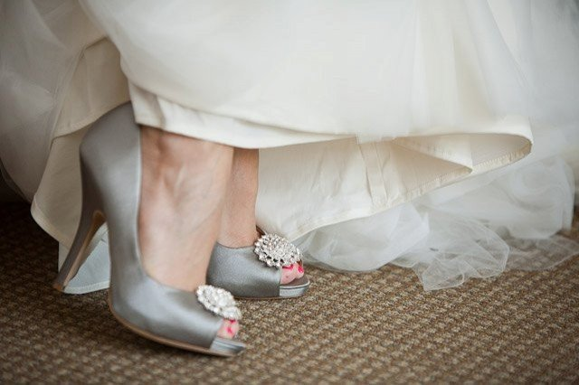 Badgley-Mischka-Grey-Satin-Shoes