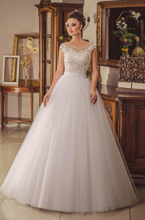 Свадебные платья с фатиновой юбкой